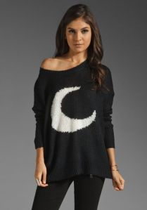 from revolve clothing, one of my personal fav sweaters from Evil Twin Clothing